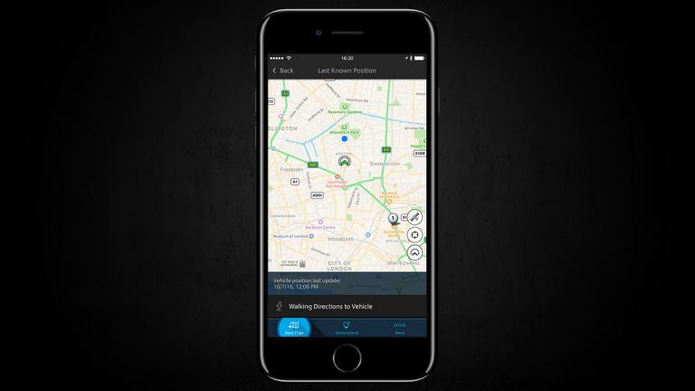 Vehicle Finder on smartphone